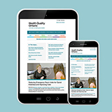 Health Quality Connect - Health Quality Ontario's newsletter - on an iPad and a cell phone