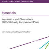 Front cover of the Quality Improvement Plans Report in hospital care