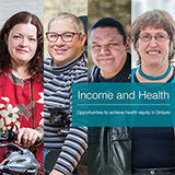 Front cover of the health equity report: Income and Health