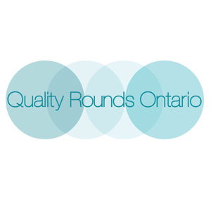 Quality Rounds Ontario logo with four blue circles and text