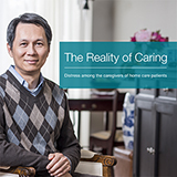 Front cover of the caregiver distress report: the reality of caring
